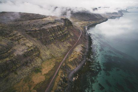 aerial photographs latrabjarg  road trip westfjords iceland